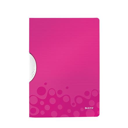 Universalmappe A4 med klemryg Leitz WOW Color Clip 41850023 | Pink