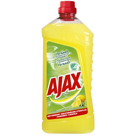 Universalrengøring, Ajax Lemon, med farve og parfume, 1,5 l