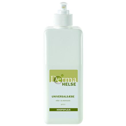 Universalsæbe til hår og krop, Derma Helse, uden farve og parfume, 570 ml,