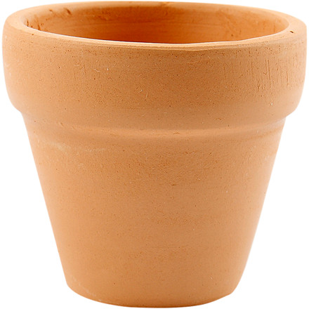 Små ler urtepotter diameter 5 cm højde 4,2 cm - 48 stk.