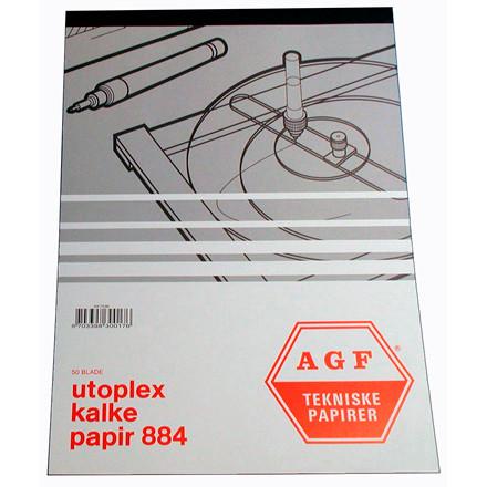 Tegnepapir A4 Utoplex 884 90 gram -  50 ark i blok
