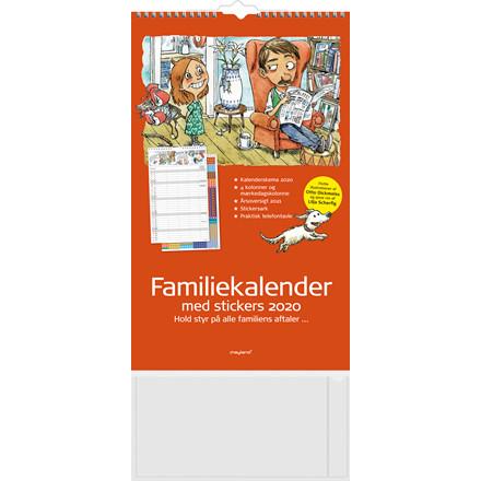 Vægkalender Familiens års 4 kolonner 24x39cm 20 0662 30