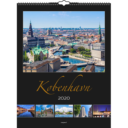 Vægkalender København 30x39cm 20 0662 20