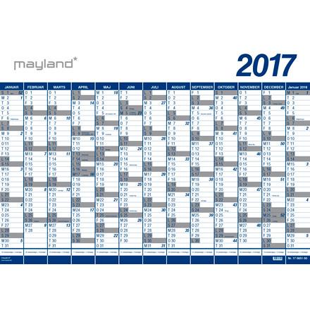 Vægplanner 13mdr vinyl 100x70cm 0650 00 (2017)