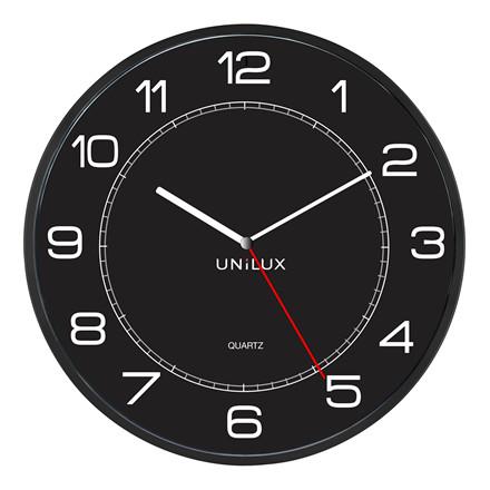 Vægur Unilux Mega sort ø60cm