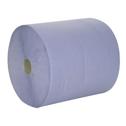 Værkstedsrulle, neutral, 2-lags, 360m x 36cm, Ø27cm, blå