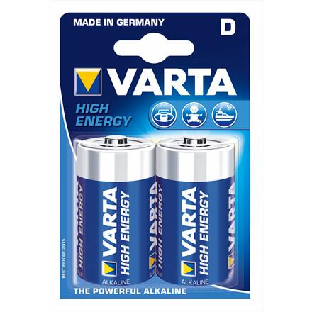 Varta Batteri High Energy - LR20 D 2 stk/pak