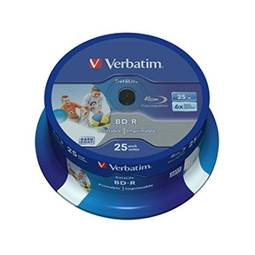 Verbatim BD-R Datalife 6X 25GB Wide Printable(25)