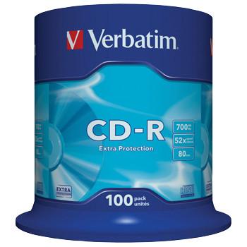 Verbatim CD-R 700MB/80min 52x  spindle (100)