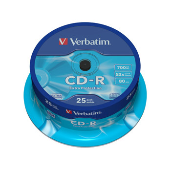 Verbatim CD-R 700MB/80min 52x spindle (25)
