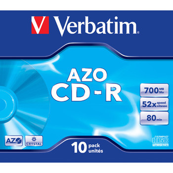 Verbatim CD-R AZO, 52X, Crystal (10)