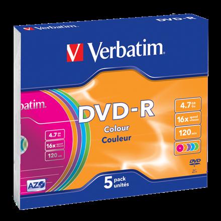 Verbatim Dvd-R Azo 4.7Gb 16X Colour Surface (5)