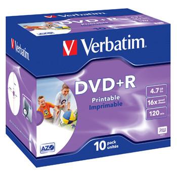 Verbatim DVD+R 16x 4,7GB printable (10)