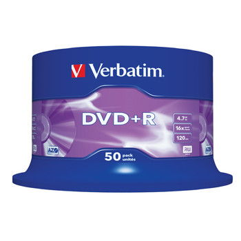Verbatim DVD+R 16x 4,7GB spindle (50)