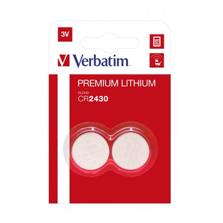Verbatim Lithium Battery Cr2430 3V 2 Pack