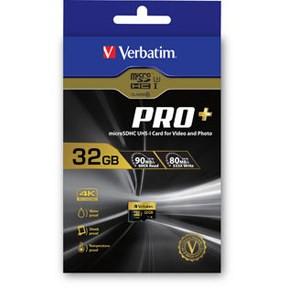 Verbatim Micro SDHC Card PRO+ 32GB U3 with Adaptor