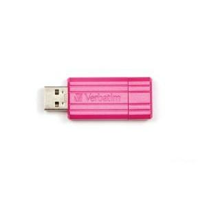 Verbatim USB key 32GB Store 'N' Go Pin StripeHot pink