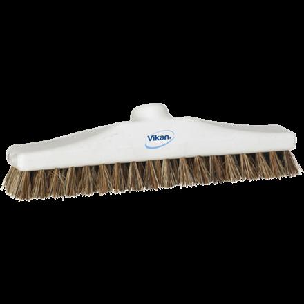 Vikan Gulvskrubbe Hvid - Stive børstehår - Længde: 300 mm