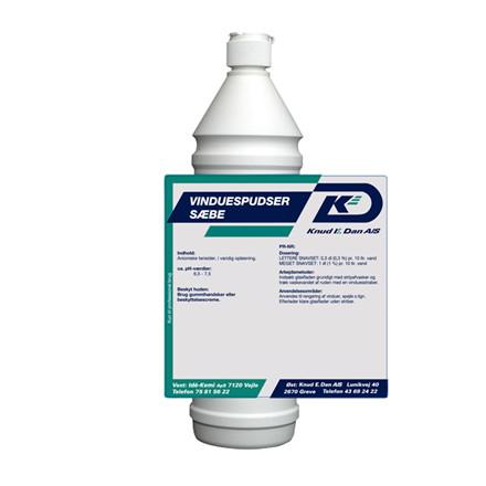 Vinduespudser sæbe - 1 liter flaske