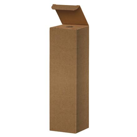 Vinemballage brun gaveæske til 1 flaske 75 cl - 20 stk. i pakningen
