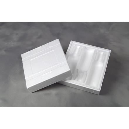 Vinemballage polystyrol 3003 Universal - Til 3 flasker - 24 stk. i pakningen