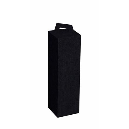 Vinemballage sort gaveæske til 1 vinflaske - 50 stk. i pakningen