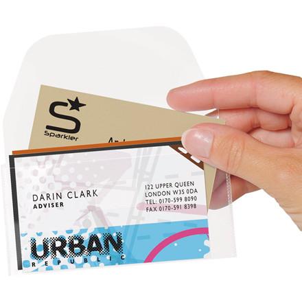 Visitkortlommer med klap 6 x 10,5 cm 3L - 100 stk i pakke