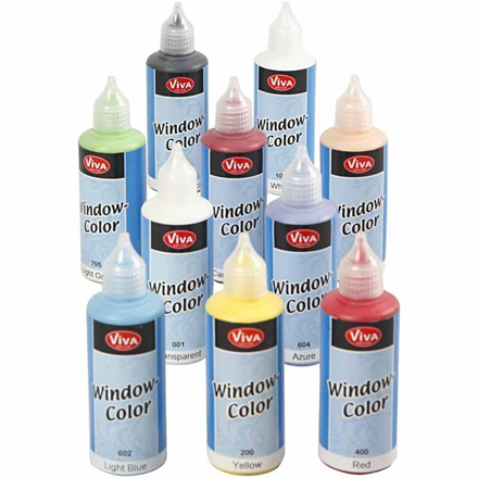 Viva Decor Window Color, ass. farver, 10x80ml