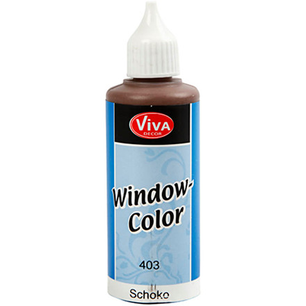 Viva Decor Window Color, chokolade, 80ml