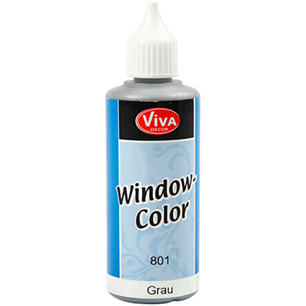 Viva Decor Window Color, grå, 80ml