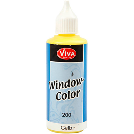 Viva Decor Window Color, gul, 80ml
