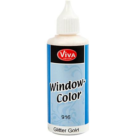 Viva Decor Window Color, guld glitter, 80ml