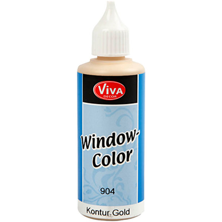 Viva Decor Window Color - konturfarve, guld, 80ml