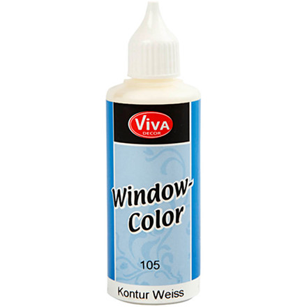 Viva Decor Window Color - konturfarve, hvid, 80ml