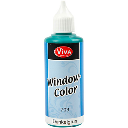 Viva Decor Window Color, mørk grøn, 80ml