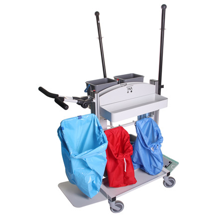 Vogn, med elektrisk pumpesystem, L110 cm x B55 cm x H104 cm,