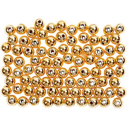 Voksperler, diam. 4 mm, hulstr. 0,7 mm, guld, 150stk.