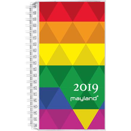 Mayland Week Planner 2019 uge højformat med 4 illustrationer 9,5 x 17 cm - 19 0881 00