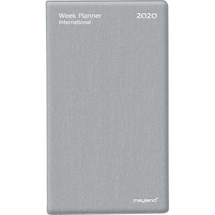 Weekplanner vinyl sølv 9,5x17cm tværformat 20 0854 00