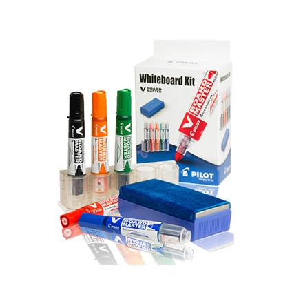 Pilot Whiteboard Kit - Sæt med markere og visker
