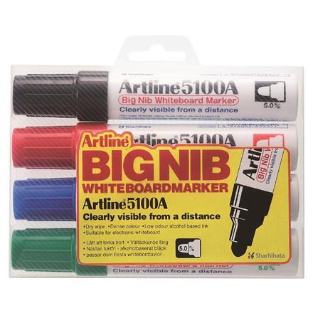 Whiteboard Marker Artline 5100A BIG 4-sæt
