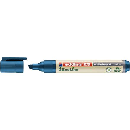 Whiteboardmarker edding 29 EcoLine blå 1-5mm skrå spids