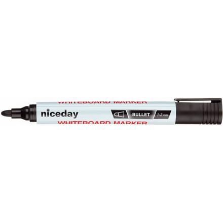Whiteboardmarker niceday sort 1,5mm rund spids 1639425