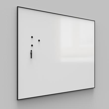 Whiteboardtavle - Lintex ONE med sort aluramme 100 x 120 cm