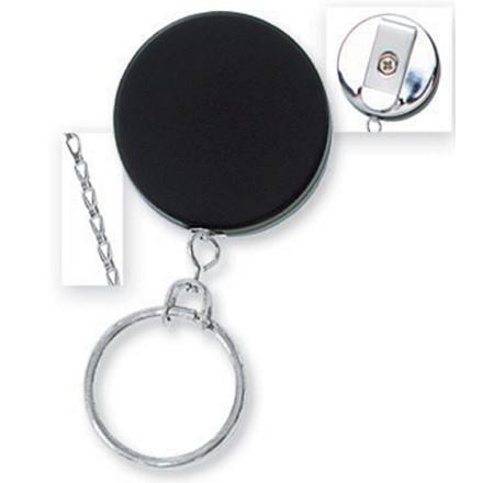 Yo-Yo nøglesnor NN sort m/kæde | 10 stk.