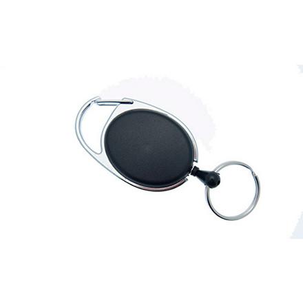 Yo-Yo nøglesnor NN sort m/krog og wire 10 stk