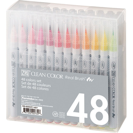 ZIG Clean Color Real Brush 48-set