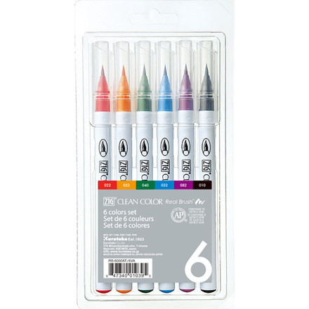 ZIG Clean Color Real Brush 6-set