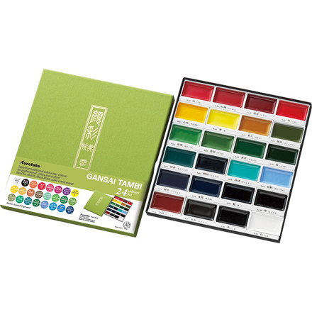 ZIG GANSAI TAMBI Aquarel 24 colour set