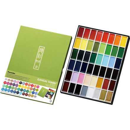 ZIG GANSAI TAMBI Aquarel 48 colour set